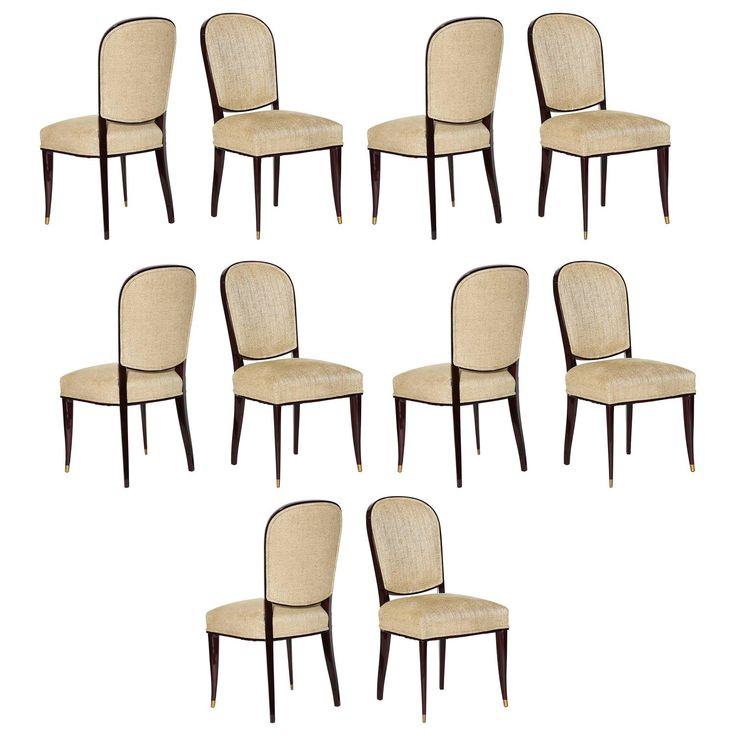 Dining Chairs by Maison Leleu  See more antique and modern Dining