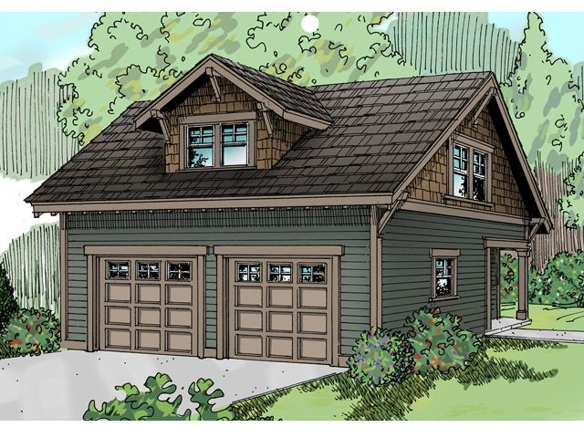 Plan 13 007 just garage plans a two story two bay for 2 car garage with apartment above