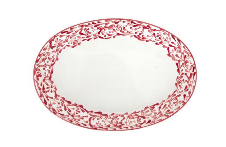 Azulina Ceramics - Rojo Oval Serving Platter