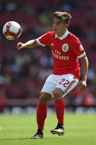 Franco Cervi of SL Benfica in action during the Emirates Cup match between RB Leipzig and SL Benfica at Emirates Stadium on July 30, 2017 in London, England.