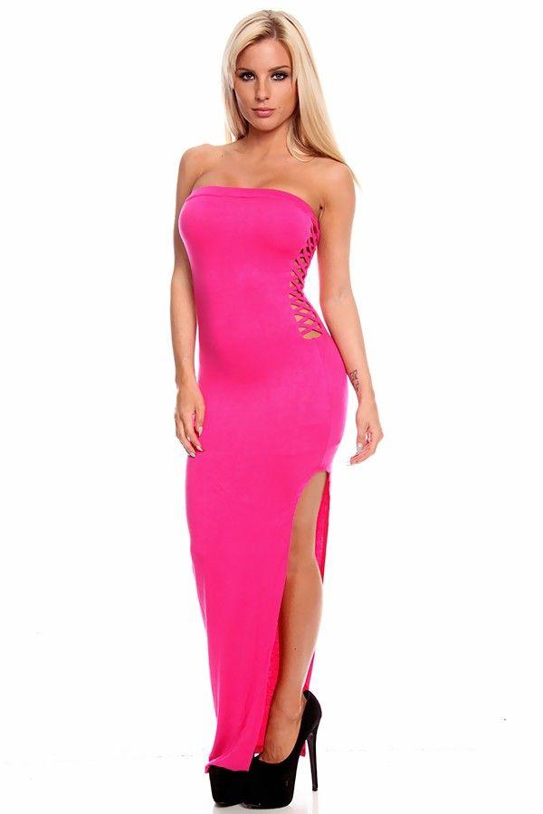 5 48 maxi dress double slit