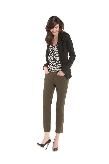 Veston en Ponte à Bouton Simple et Pantalon à Jambe Ajustée Tout-aller - Ponte One-Button Blazer and Skinny-Leg Casual Trousers