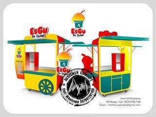 Desain Logo | Logo Kuliner |  Desain Gerobak | Jasa Desain dan Produksi Gerobak | Branding: Desain Gerobak Es Gulali