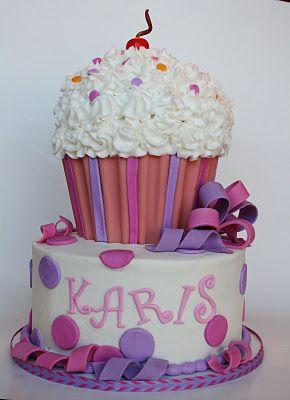 And Everything Sweet: Cupcake 1st Birthday Cake