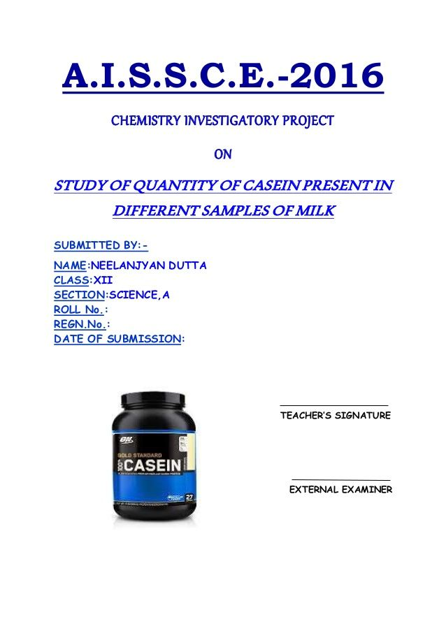 The 25 best investigatory project ideas on pinterest crazy hats aissce 2016 chemistry investigatory project on study of quantity of casein present in different samples solutioingenieria Gallery