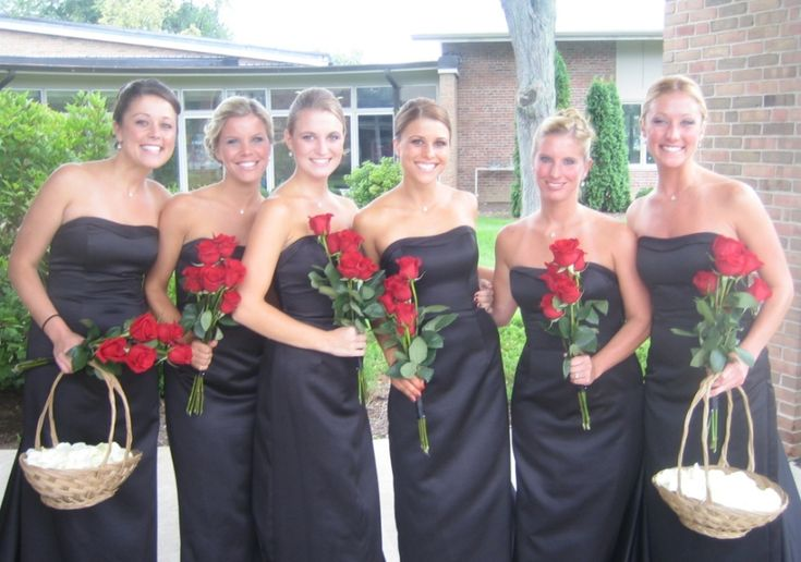 How Long Should Bridal Bouquet Stems Be : Red rose wedding bouquets jennifer lee floral design