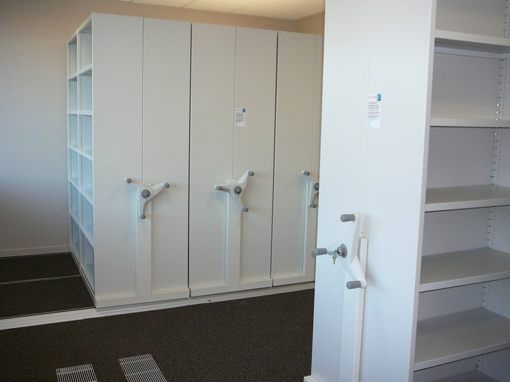 Flexistor is a mobile office storage system that can be installed with a minimum of disruption to the day to day operation of your business. http://www.compactstorage.co.uk/mobile-shelving/flexstor/