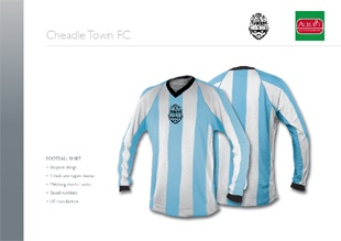 First team kit for Cheadle Town FC