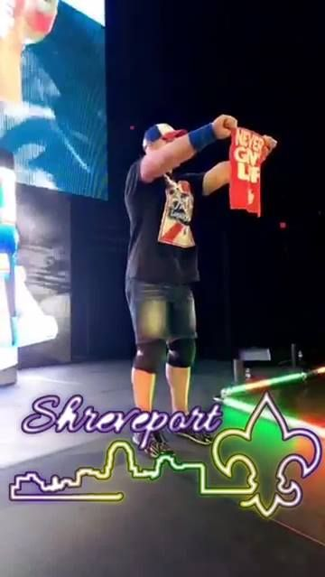 John Cena was ready for a fight at WWE Shreveport!