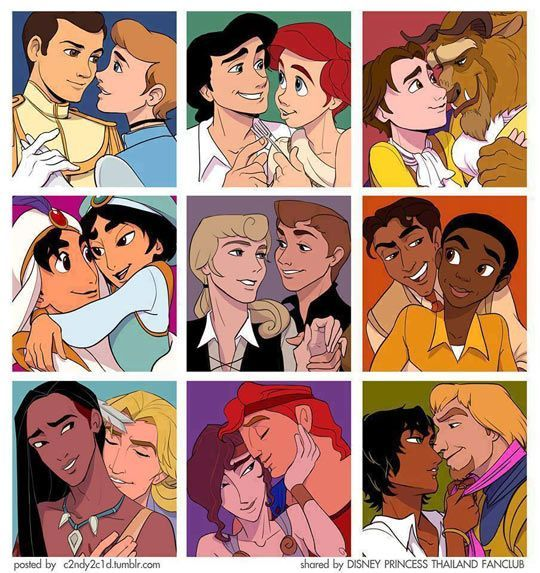 Gay Disney Couples... this is adorable