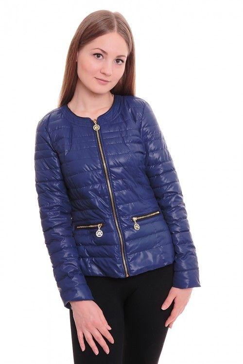 Куртка А5309 Размеры: 42-50 Цвет: синий Цена: 1500 руб.  http://optom24.ru/kurtka-a5309/  #одежда #женщинам #куртки #оптом24