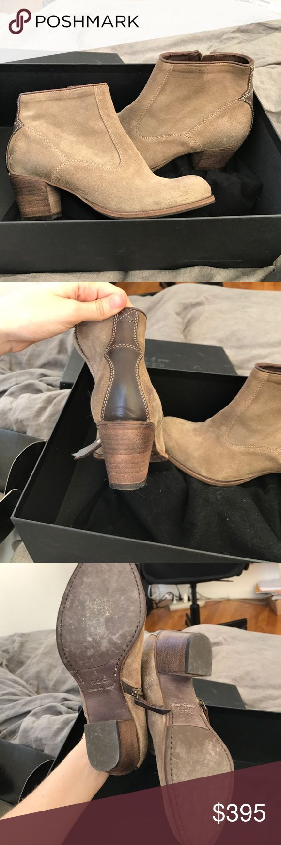 n.d.c. Made by hand Em R Softy ankle boots Worn one time at a wedding. I'm a straight 7 and they are a little tight in the toe box. Because leather stretches, if you were to wear them they would probably stretch out and be fine for a size 7. Dust bag is included. Please let me know if you would like box also shipped, they are more expensive to ship that way. n.d.c. Shoes Ankle Boots & Booties