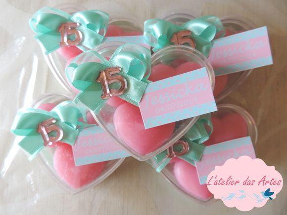 Lembrancinha coração - 15 ANOS