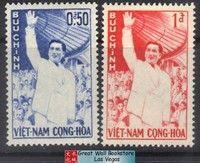 South Vietnam Stamps - 1961, Sc 158, 159 Late President Ngo Dinh Diem - MH, F-VF (9V06B)