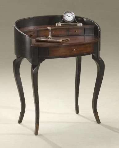 Cherry Finish Oval Shaped Ladies Writing Desk