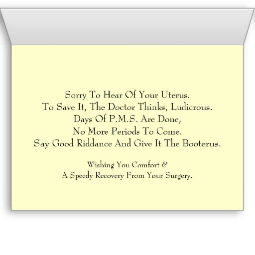 Get Well Scripture Quotes: Best 25+ Hysterectomy Humor Ideas On Pinterest