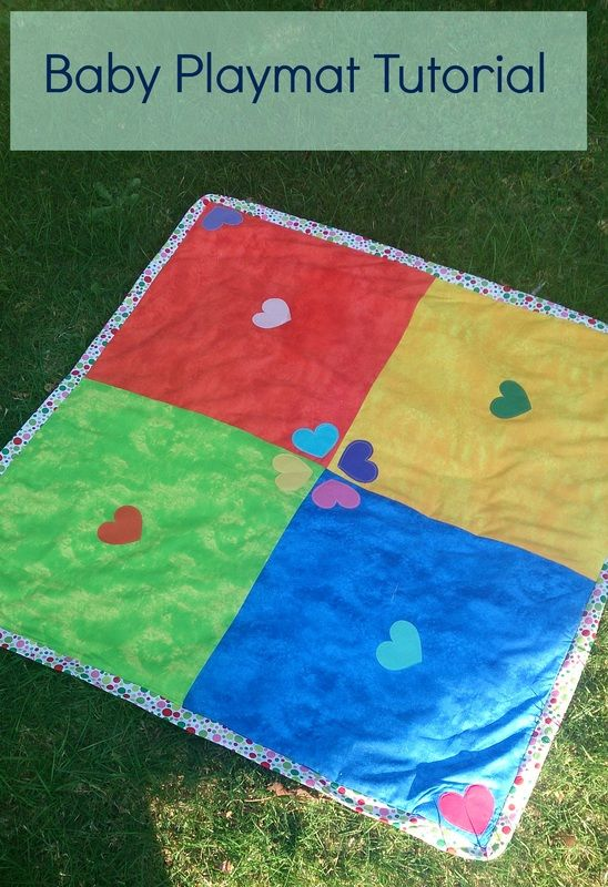 FREE SEWING PATTERNS AND TUTORIALS: How to make an easy playmat for babies ON THE CUTTING FLOOR
