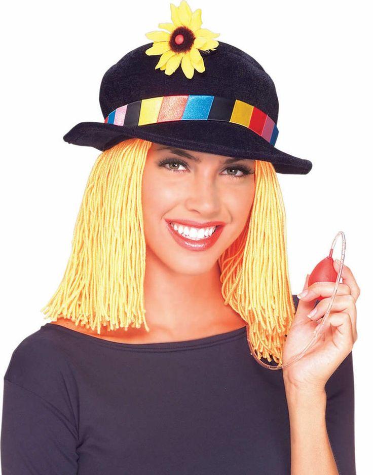 Clown Hat squirt flower hair comedy circus novelty costume prank gag joke prop #Rubies