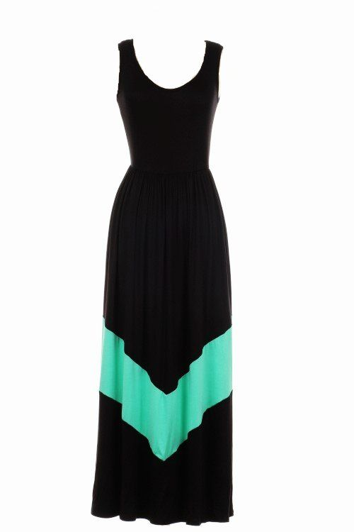 Chevron Maxi Dress | This store has cute dress and free shipping!