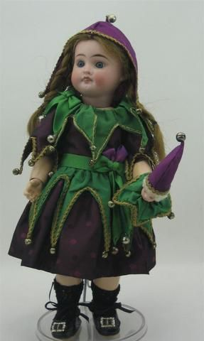 The popular Jester's costume of 1907, this one made by Louise Hedrick.