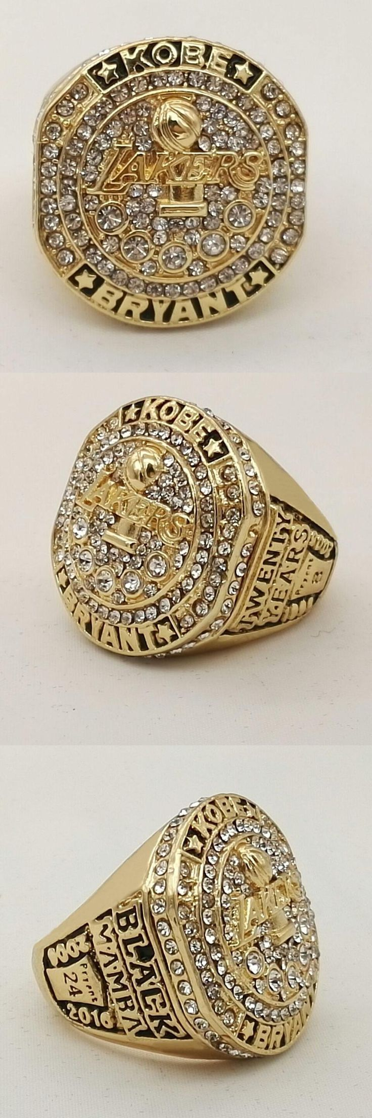 [Visit to Buy] Wholesale 2016 fashion free shipping Kobe Present Kobe Bryant with Retirement Ring twenty years black mamba replica ring #Advertisement