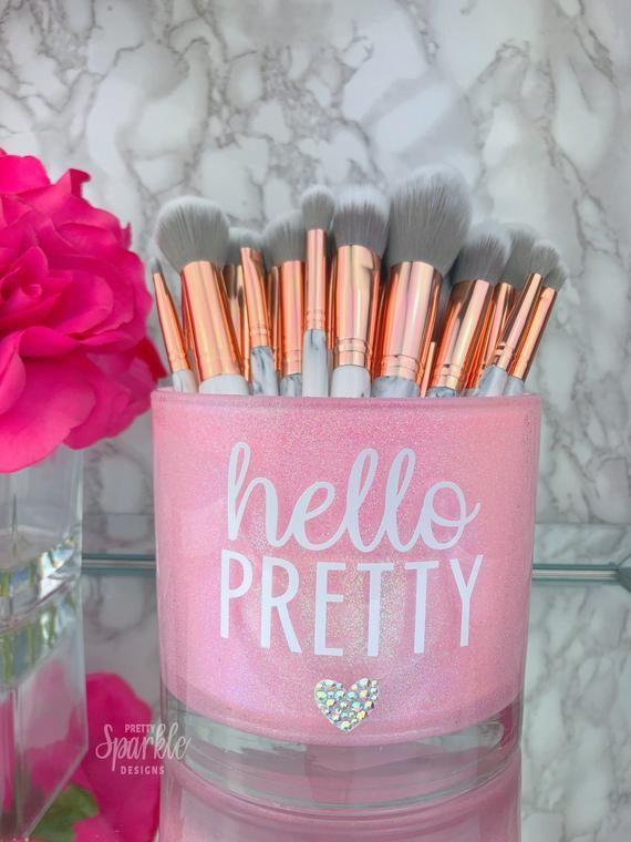 Large Makeup Brush Holder, Makeup Artist Gift, Girly Decoration, Makeup lover, Makeup Vanity decor, Makeup Artist, Makeup Brush Holder