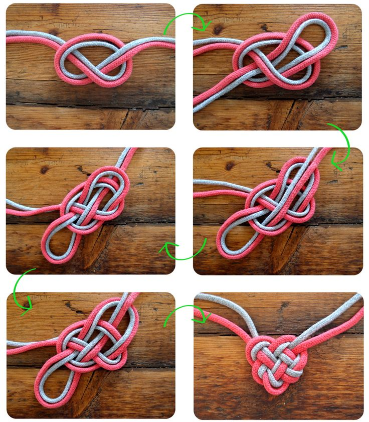 diy heart knot necklace