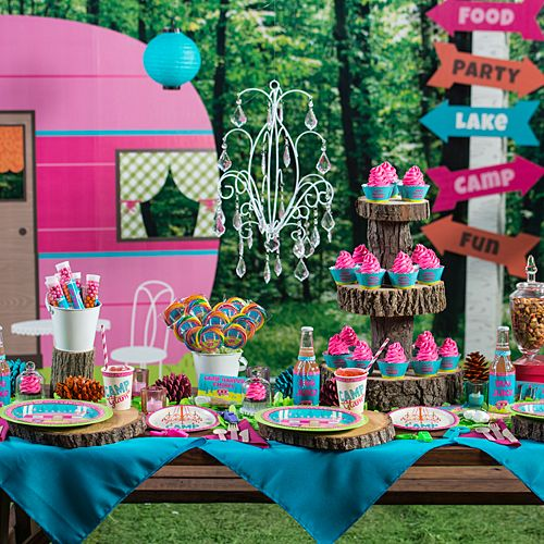 Camp Glam Party Supplies Let S Celebrate Pinterest