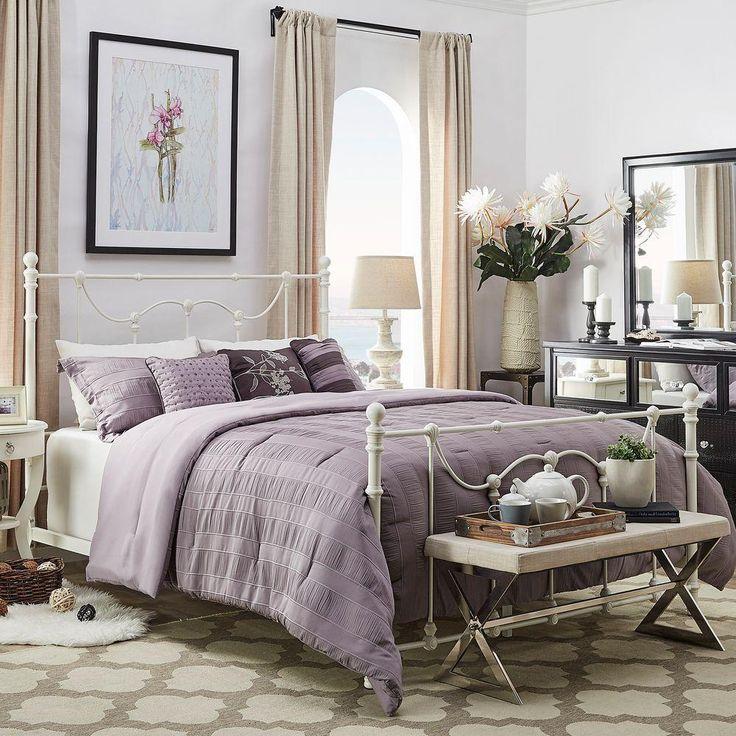 dorado antique white full bed frame - White Metal Queen Bed Frame