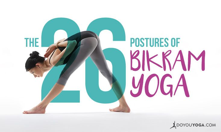 Get to your first Bikram yoga class prepared! Here are the 26 poses of Bikram yoga and how to do them, so you can be top of the class when you get there!