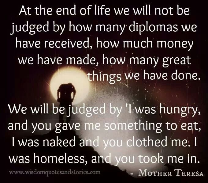 End Of Life Quotes Inspirational: Mother Teresa Quotes On Jesus. QuotesGram