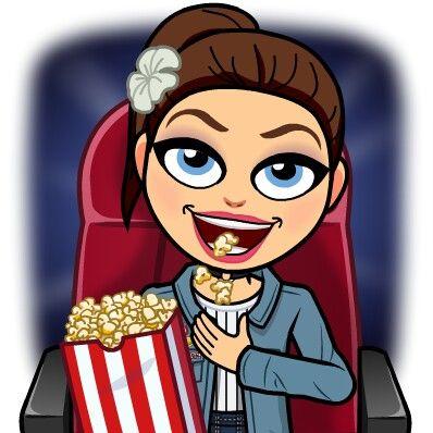 Bitmoji #en el cine comiendo pochoclos