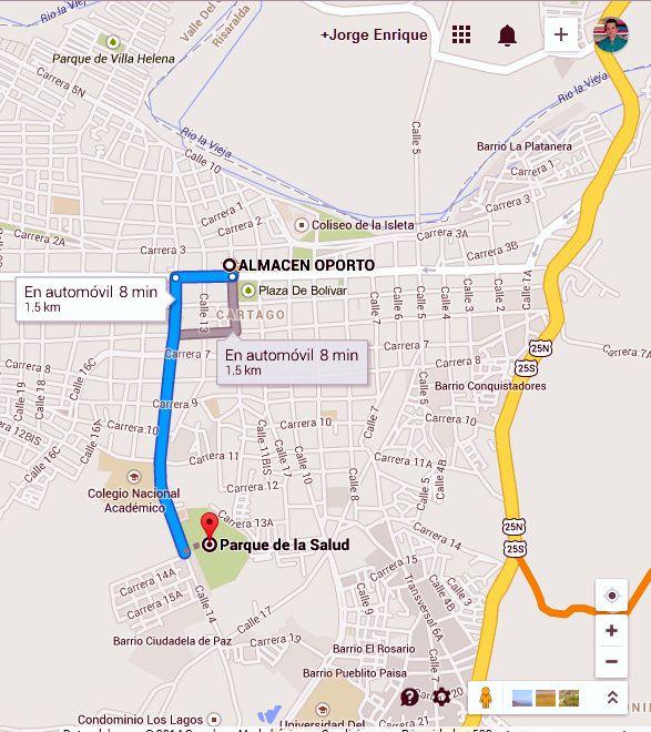 Vía Parque De La Salud #Cartago @ALMACENOPORTO Calle 12 # 3-66 L 117 CC Villa De Robledo, Cartago, Valle www.almacenoporto.com.co Tel: 210 2525