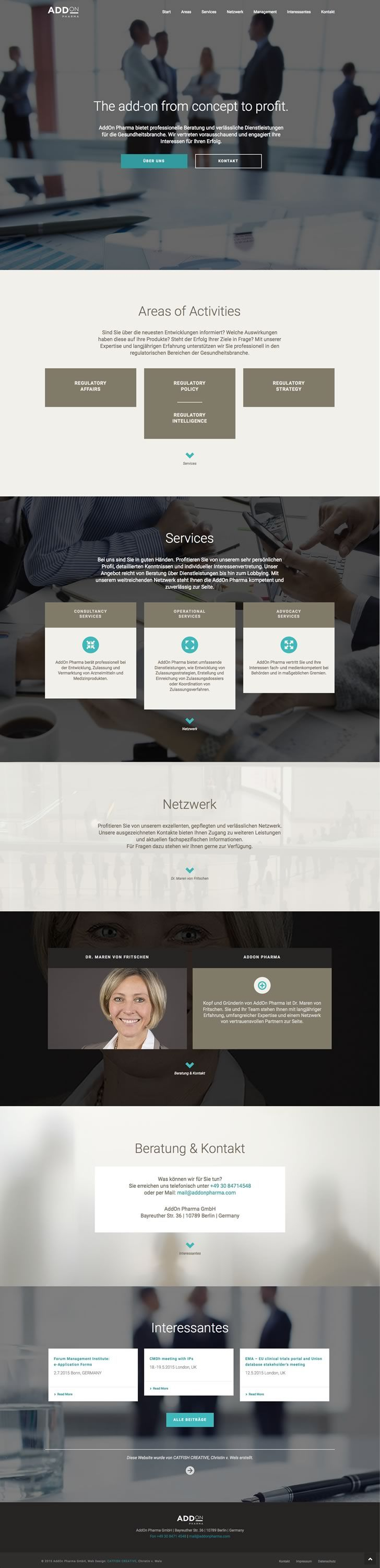 Catfish Creative | Marken- und Designagentur 360° | Web Design AddOn Pharma | Take a look at www.catfishcreative.de