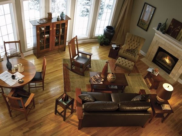 25 best oak living room furniture ideas on pinterest for Mission living room ideas