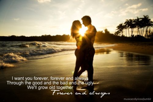 Forever and Always - Parachute <3: Picture, Bucket List, Quote, Sunset, Couple, Beach, Photo, Romance