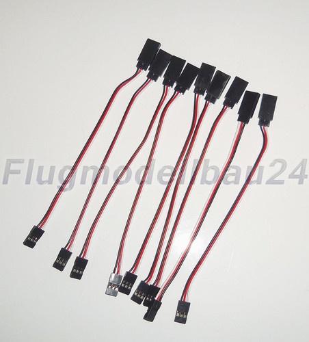10stück 15cm Servo Verlängerung Graupner Futaba JR Servokabel Kabel RC Modellbau