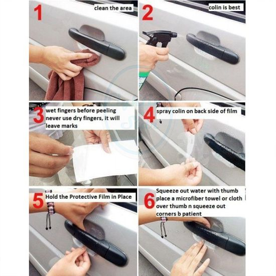 Autó kilincs karcolásvédő fólia - a kilincsek alatti fényezett felület védelméért.