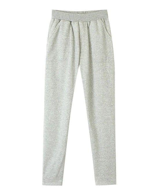 <p> -Pure Color </p> <p> -Sports Pants </p> <p> -Mixture Yarn </p> <p> -Elastic Waist </p>