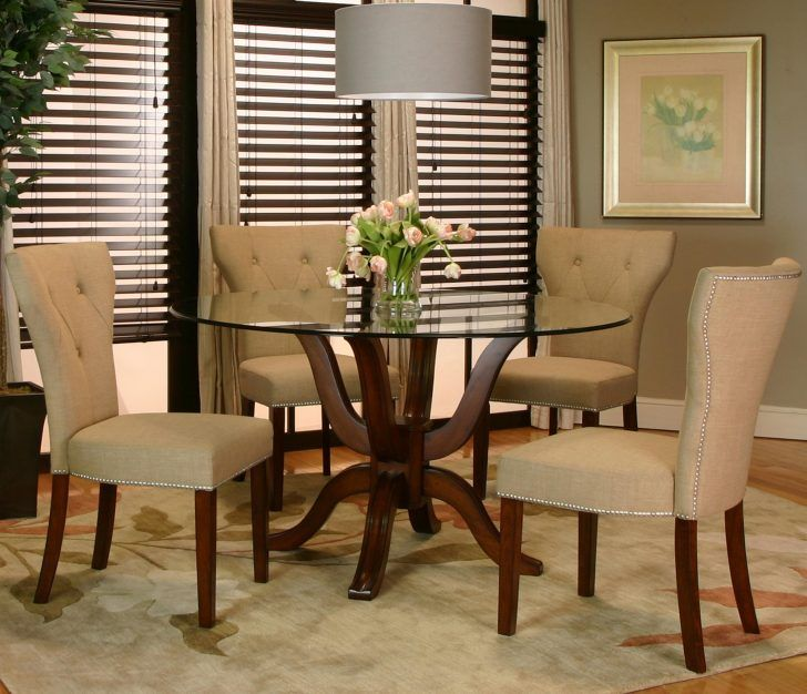 Dining Room: Scintillating And Shining Small Dining Room Ideas With Glass  Dining Table Plus Cream