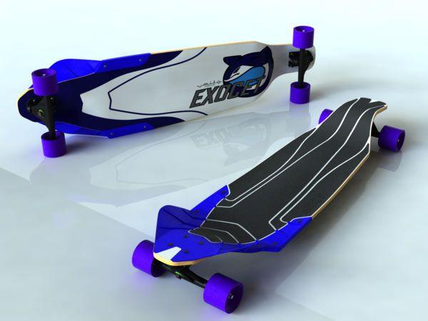 Exocet — Downhill longboard concept by José Ignacio Martínez
