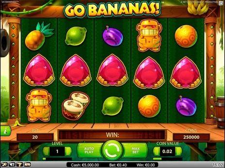 Go Bananas (Вперед Бананы) – онлайн автомат на тему джунглей имеет 20 игровых линий, 5 барабанов и 5 обезьян, раздающих «дикие» символы – бананы. © 777SlotGames «Игровые автоматы» #777slotgames #onlineslots #slotgames #slotsforfun #gamblingisfun