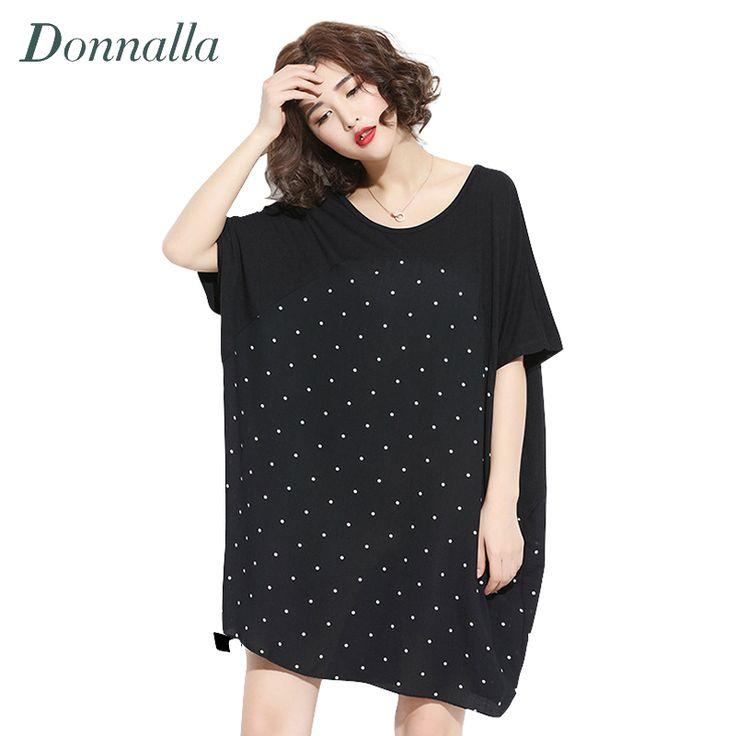 Women T-Shirt Summer Plus Size T Shirts Ladies Fashion Oversized Batwing Sleeve Polka Dot Prints Super Large Loose T-Shirts