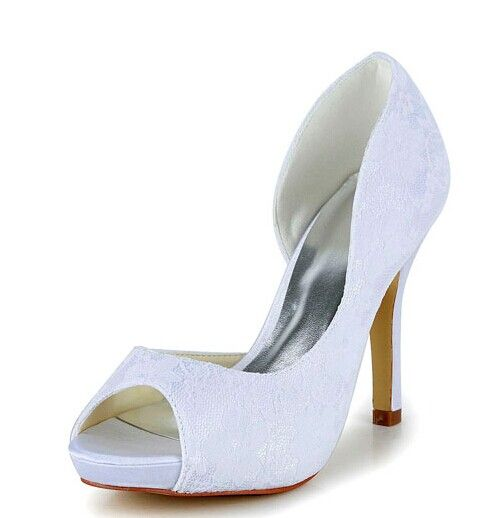 """Graceful Women's Wedding Shoes With Peep Toe and Lace Design Color: BEIGE, WHITE, CHAMPAGNE, BLACK, RED Size: 34, 35, 36, 37, 38, 39, 40, 41, 42 Category: Wedding & Events > Wedding Shoes   Gender: Women  Pumps Type: Basic  Toe Style: Open Toe  Toe Shape: Peep Toe  Shoe Width: Medium(B/M)  Heel Type: Stiletto Heel  Heel Height Range: High(3-3.99"""")  Embellishment: Lace  Occasion: Wedding  Upper Material: Lace    #laceweddingshoescheap #lacshoes #weddingshoes #cheapshoes #bridgat.com"""