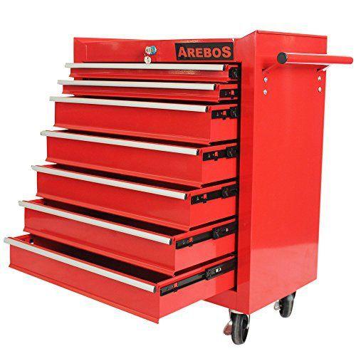 Servante Caisse à outils d'atelier 7 tiroirs tools chest chariot rouge: Price:119.9Vous voulez de l'ordre dans votre atelier ? Alors, la…