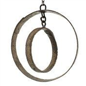 Home Accent # Iron Rings # Rustic Ring Mobile # Home Or Garden Accent # Elegant Rustic Object # HomArt Salvaged Iron Ring Mobile with Chain