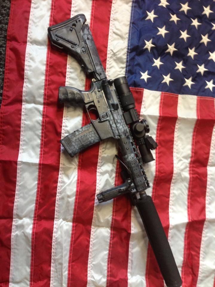 guns blackout noveske 300 sbr kryptek tactical rifle flag ar camo hydrographics graphics sick gun magpul silencer weapons military silenced