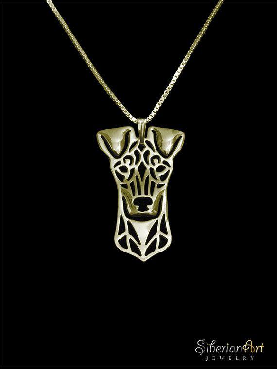 Standard Manchester Terrier  gold vermeil by SiberianArtJewelry, $120.00