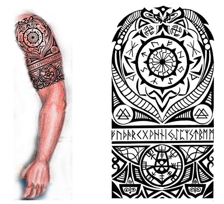 Viking Nordic Tattoo by thehoundofulster.deviantart.com on @deviantART:
