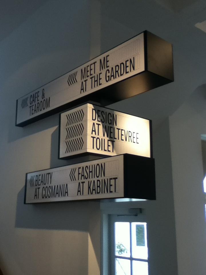 Droog Hotel, Amsterdam clever signage design